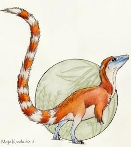sinosauropteryx väri maija karala