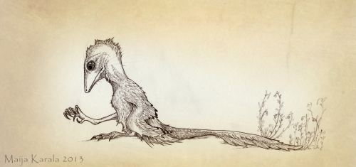 polydactyl_scansoriopteryx dinosaur all yesterdays maija karala