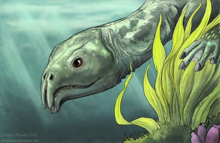 atopodentatus_unicus_triassic_marine_reptile_luoping_maija_karala