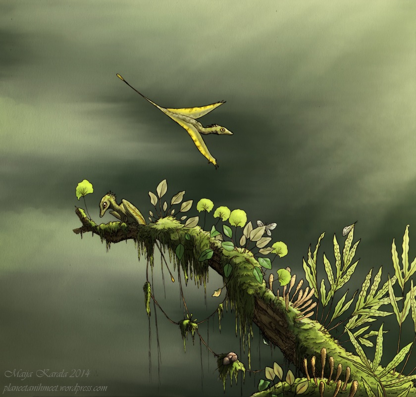 sharovipteryx planeetanihmeet epifyytit triaskausi maija karala